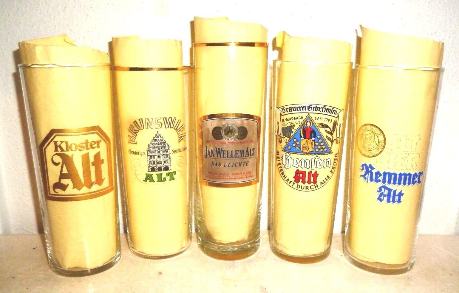 5 Kloster Brunswiek Wellem Hensen Remmert Altbier German Beer Glasses