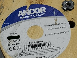 Ancor #10awg 105x30 Marine Grade Tinned Copper Boat Cable BC-5W2 600V Wh... - $29.69