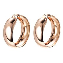 Yoursfs Clip on Earrings For Women Mental 18K Rose/White Gold Plated Non... - $16.69