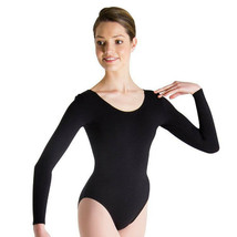 Body Wrappers BWC126 Girl's Size 6X-7 (Fits 4-6) Black Long Sleeve Leotard - $12.86