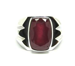 925 Sterling Silver Natural A+ Quality Garnet Gemstone Handmade Men's Ring image 1