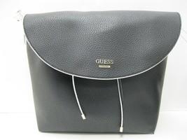 Guess NWT  Black White Solid Stripe Reversible Tote Plus Extra Handbag Flap - $48.51