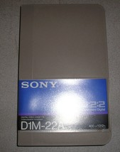 New Sony D1M-22A Digital D1 22 22min 4:2:2 Component Digital Video Cassette - $37.49