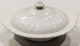 Johnson Brothers White Regency Swirl Round Covered Vegetable Bowl (w/ Lid) - $43.23