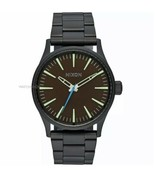 Nixon Sentry Black Stainless Steel Mens Watch A450-712 - $65.44