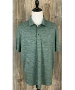 "Greg Norman ""Attack Life"" Golf Polo Men's 2XL Play-Dry Heather Green Pol... - $17.81"