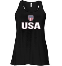 USA Red White Blue Flowy Racerback Tank American Flag Us Classic - $26.95+