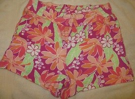 Gymboree Mix N Match Pink Flower Floral Knit Shorts Size M Medium 7-8 7 8 - $15.76