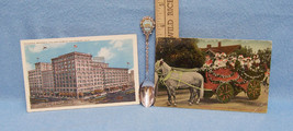 1908 SOUVENIR CALIFORNIA SPOON & 2 POSTCARDS VINTAGE - $10.88