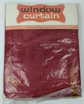Vintage NOS Tex-Style Red Velvet Floral Window Curtain 68x54 - $29.70