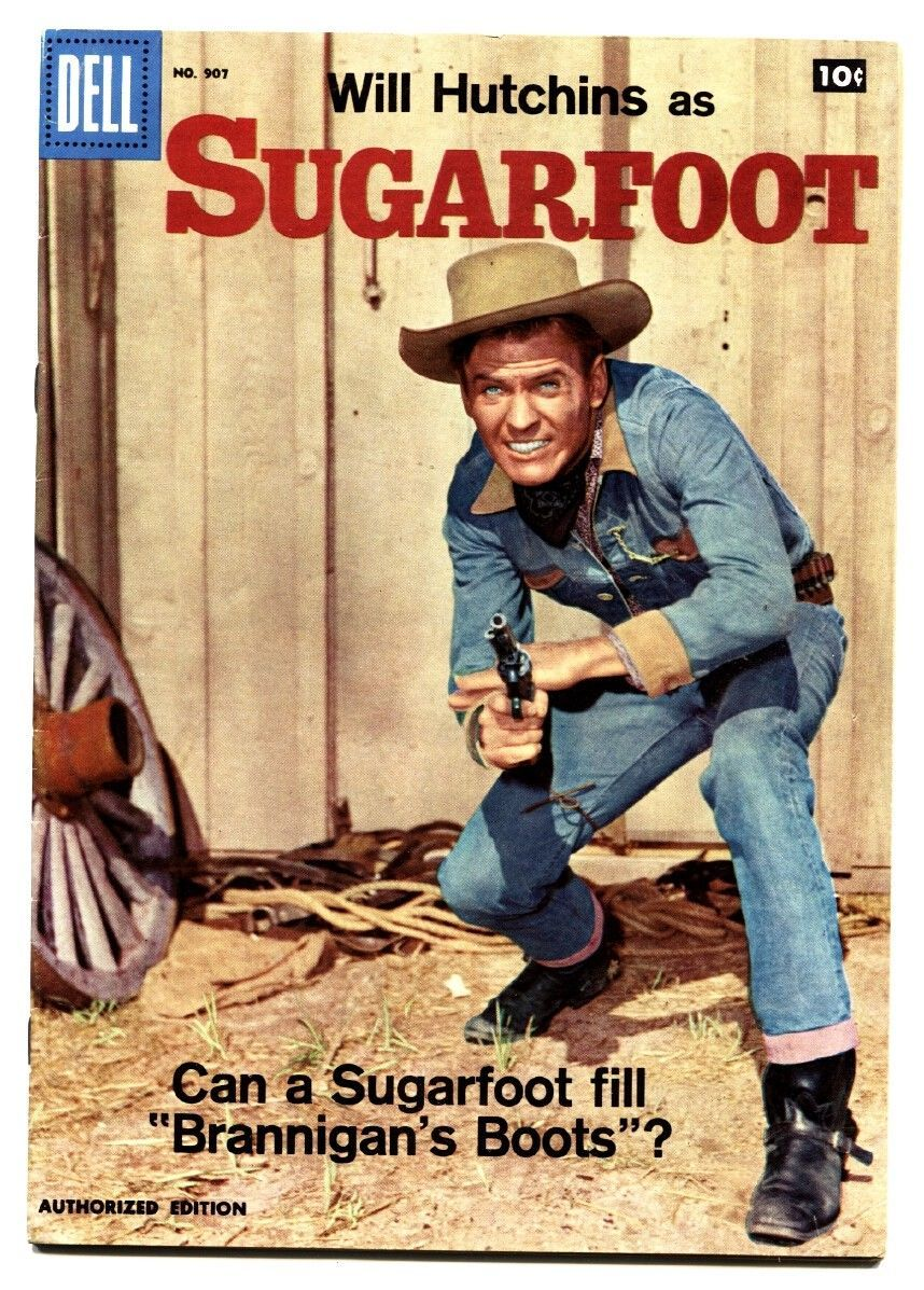 Four Color Comics #907 1958- Sugarfoot TV Photo cover  Toth art VF