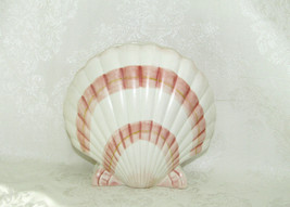 """Fitz & Floyd Coquille Oceana Hand Painted Scallop Sea Shell Vase 5-3/4"""" Tall - $24.74"""