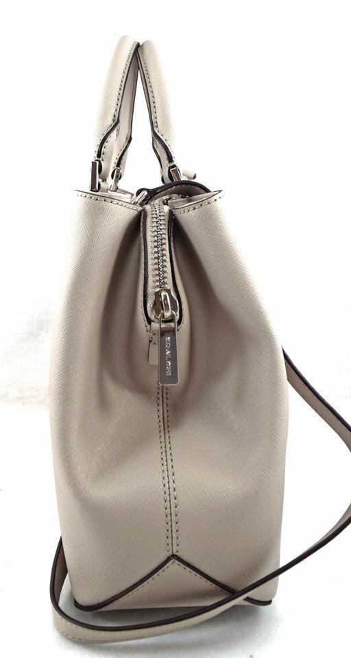 Michael Kors Florence Cement Grey Leather Satchel   MSRP $368