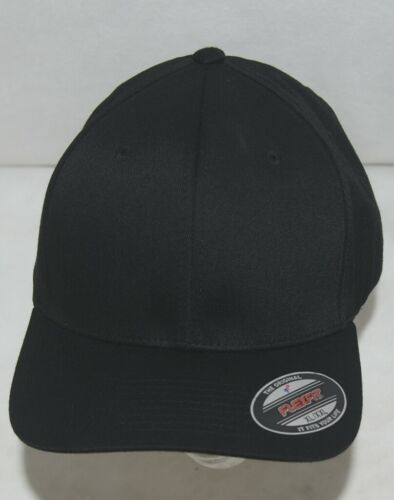 Flexfit Black 6277 Twill Hat XL XXL Permacurv Visor With Silver Undervisor
