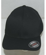 Flexfit Black 6277 Twill Hat XL XXL Permacurv Visor With Silver Undervisor - $12.99