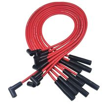 BBC CHEVY 396 427 402 502 572 HEI DISTRIBUTOR + RED 8.0mm SPARK PLUG WIRES image 5