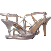 Nina 6598 Ankle Strap Peep Toe Heels, Silver Metallic 178, Silver Metall... - $28.79