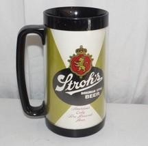 Vintage Stroh's Beer Thermo-Serv 1970's Plastic Mug 16 oz - $8.86