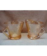 Jeanette Glass floragold louisa cream & sugar. - $15.00