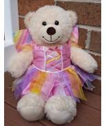 Build a Bear Rainbow Fairy Bear Plush Spring Summer 17 inches - $17.00