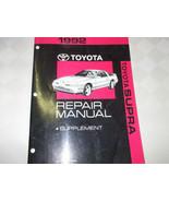 1992 TOYOTA SUPRA Shop Service Repair Manual SUPPLEMENT FACTORY BOOK 92 - $18.81