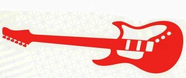 large red guitar car, boat, house, truck decal vinyl stickers, the red guitar ,