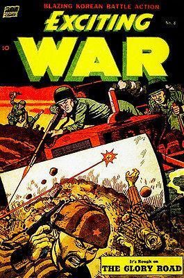 Primary image for Exciting War #8 - 1953 - Comic Book Cover Poster