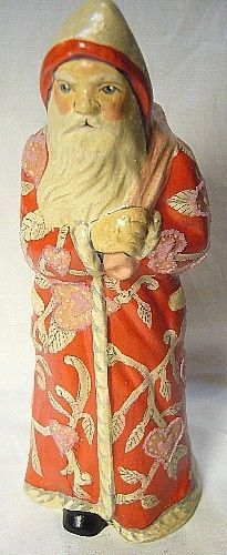 Vaillancourt Folk Art Valentine Santa Signed by Judi