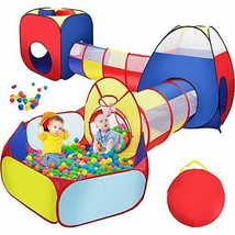 Sunba Youth Kids Tent with Tunnel, Ball Pit for Boys Girls, Babies and T... - $76.06