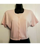 VTG 1980's Cropped Top Girls XL (womens S) Pink Layered Look Belly Butto... - $14.85
