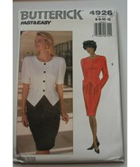 Butterick Sewing Pattern 4926 Misses Top Skirt Sizes 6-8-10-12 - $9.89