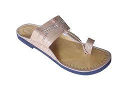 Men Slippers Indian Handmade Leather Ethnic Flip-Flops Cream US 6-9 - $29.99