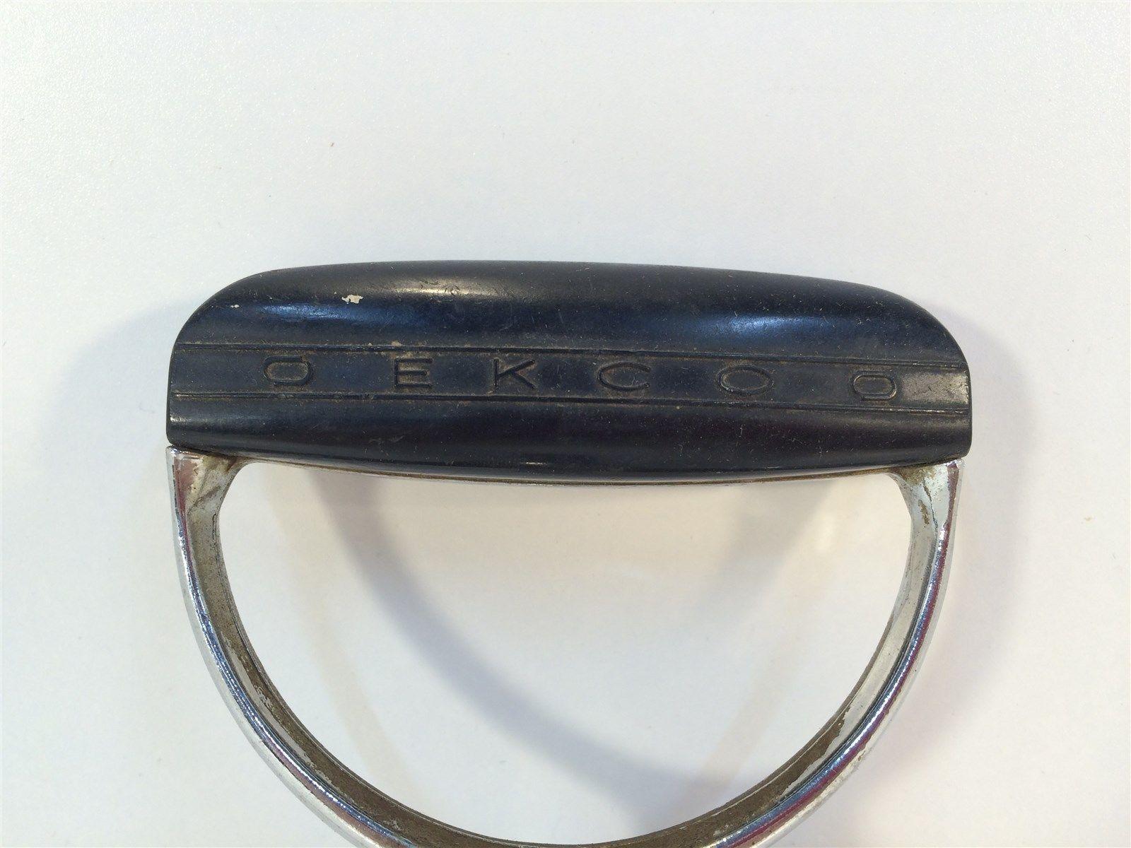Vintage Egg Beater - EKCO - Black Handle - Made in USA - Heavy image 2