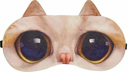 Cute Cat Expression Sleep Goggles Sleeping Mask Eye Cover