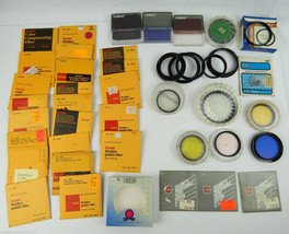 Lot 30+ Camera Lens Filters Gelatin 75mm Cokin Hoya Yellow Green Tiffen + MORE - $67.31