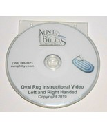 Aunt Philly's DVD toothbrush rag rug pattern  OVAL (right and left handed instr) - $32.53