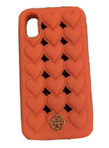 Tory Burch Red Heart Silicone Phone Case For I Phone X/XS Cl EAN Excellent Mint - $95.98