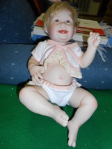"Beautiful 1993 ASHTON-DRAKE Galleries Porcelain DOLL...""Cute as a Button... - $19.80"