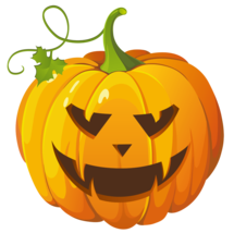 x2 10x10cm Shaped Vinyl Stickers pumpkin halloween horror retro jack o l... - $5.18