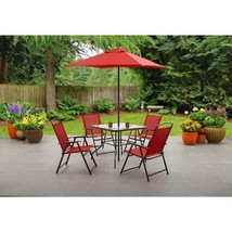 Premium 6-Piece Folding Dining Set Albany Lane Stylish Garden Patio Yard... - $204.76