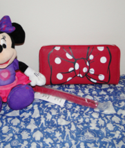 Disney Parks Minnie Mouse Bow Lg Wallet/ Wristlet NWT Pink