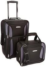 Rockland Luggage 2 Piece Set, Black/Gray, One Size - $39.54