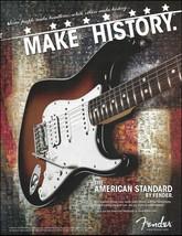 Fender American Standard Stratocaster guitar advertisement 8 x 11 ad print - $4.00