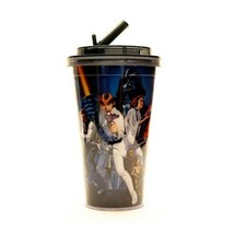 Disney Star Wars Plastic Flip Straw Cold Cup For Drinks Drinking New A13 - $11.95