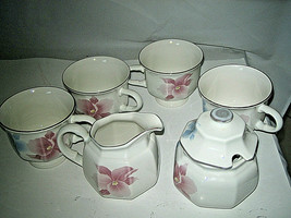 Set of 7 Mikasa Continental Beau Monde Cups Creamer Sugar Bowl +Lid Japa... - $24.99