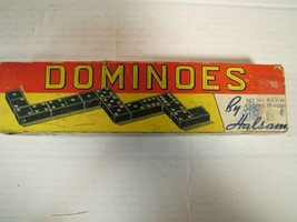 Vintage Halsam Double Six Dominoes Set No. 623-w (28 Pieces) Complete - $8.67