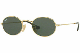 Ray Ban Oval Flat Sunglasses RB3547N 001 48MM Gold Frame / Green Classic Lens - $98.99