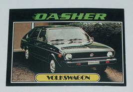 1976 topps Autos of 1977 yellow volkswagen dasher car card #97 vg-ex con... - $7.42