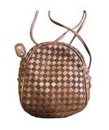 Vintage Valentino Garavani brown intrecciato mini pouch style shoulder b... - $182.00