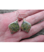 Special Sale, Unakite Earrings, 925 Silver, Immune System Stone, Handmade  - $18.40